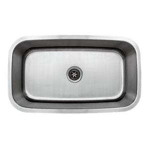 "Wells Sinkware 32"" 16-gauge Undermount Single Bowl Stainless Steel Kitchen Sink with Grid Rack and Basket Strainer CMU3118-10-16-1"