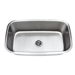 "Wells Sinkware 32"" 16-gauge Undermount Single Bowl Stainless Steel Kitchen Sink"