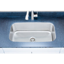 "Load image into Gallery viewer, Wells Sinkware 32"" 16-gauge Undermount Single Bowl Stainless Steel Kitchen Sink"
