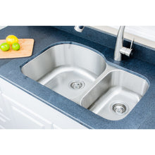 "Load image into Gallery viewer, Wells Sinkware 32"" 18-gauge Undermount 70/30 Double Bowl Stainless Steel Kitchen Sink with Grid Racks and Basket Strainers CMU3221-97D-1"