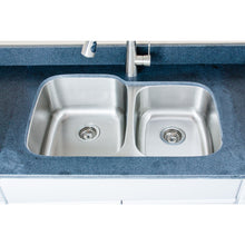 "Load image into Gallery viewer, Wells Sinkware 32"" 18-gauge Undermount 60/40 Double Bowl Stainless Steel Kitchen Sink"