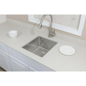 "Wells Sinkware Handcrafted 17"" x 19"" 16-gauge Undermount Stainless Steel Bar Sink CSU1719-9"