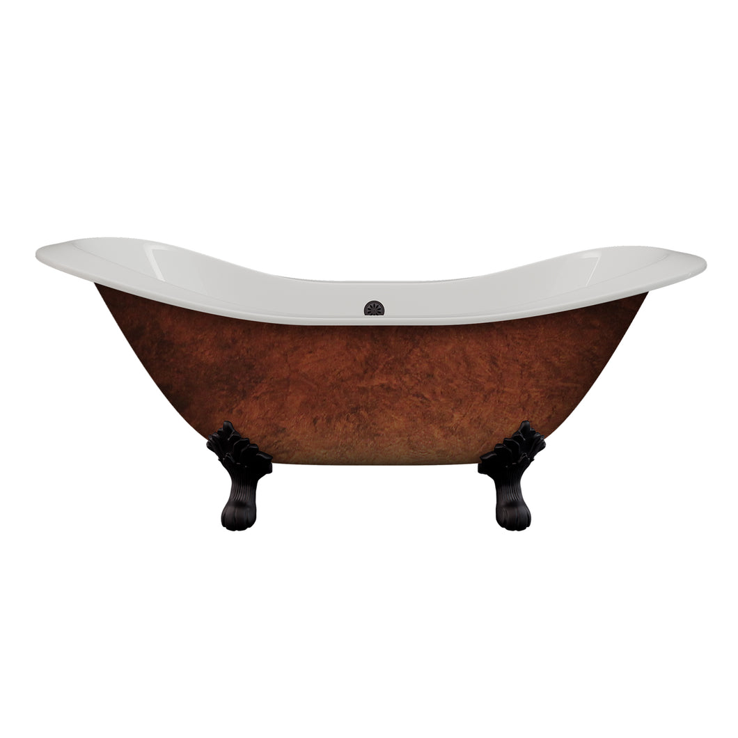 Cambridge Plumbing Cast Iron Double Ended Slipper Tub 71