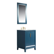 "Load image into Gallery viewer, Water Creation Elizabeth 24"" Single Sink Carrara White Marble Vanity in Monarch Blue with F2-0013-06-FX Lavatory Faucet(s) VEL024CWMB42"