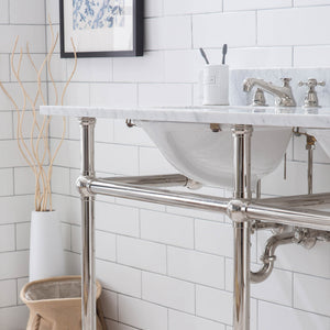 "Water Creation Embassy 60"" Wide Double Wash Stand Only in Polished Nickel (PVD) Finish EB60A-0500"