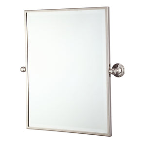 "Water Creation Metal Rectangular Mirror 18"" x 24"" in Polished Nickel Finish EMPIRE-M-1824-05"