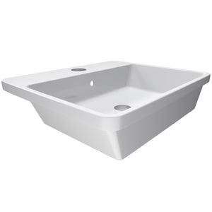 "Cambridge Plumbing Dolomite Mineral Composite 21"" Single Recessed Sink ES-SRS21"