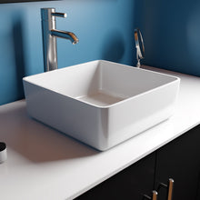 "Load image into Gallery viewer, Cambridge Plumbing Dolomite Mineral Composite 16"" Square Vessel Sink ES-SVS16"