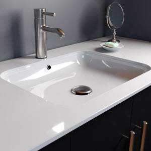 "Cambridge Plumbing - Dolomite Mineral Composite 21"" Undermount Sink - ES-UMS21"