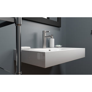 "Cambridge Plumbing Dolomite Mineral Composite 32"" Wall Mounted Sink ES-WMS32"