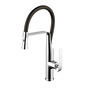 Water Creation Single Hole Pull-Out Kitchen Faucet With Supply Lines In Chrome Finish F5-0011-01