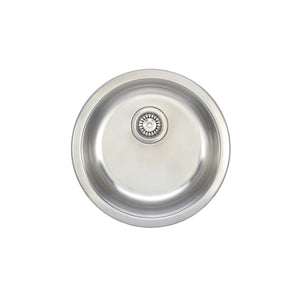 "Wells Sinkware 19"" Round 18-gauge Undermount Single Bowl Stainless Steel Kitchen/ Bar Sink"