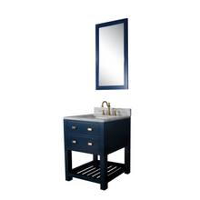 "Load image into Gallery viewer, Water Creation 24"" Monarch Blue Single Sink Bathroom Vanity with F2-0012 Satin Gold Faucet and Mirror From The Madalyn Collection MA24D-0612MB"