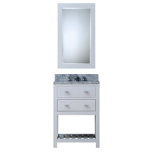 "Load image into Gallery viewer, Water Creation 24"" Pure White Single Sink Bathroom Vanity with Matching Framed Mirror and Faucet From The Madalyn Collection MADALYN24WBF"