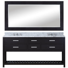 "Load image into Gallery viewer, Water Creation 60"" Espresso Double Sink Bathroom Vanity with Matching Framed Mirror and Faucet From The Madalyn Collection MADALYN60EBF"
