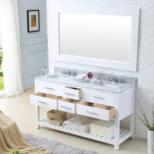 "Load image into Gallery viewer, Water Creation 60"" Pure White Double Sink Bathroom Vanity From The Madalyn Collection MADALYN60W"