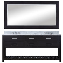 "Load image into Gallery viewer, Water Creation 72"" Espresso Double Sink Bathroom Vanity with Matching Large Framed Mirror From The Madalyn Collection MADALYN72EB"