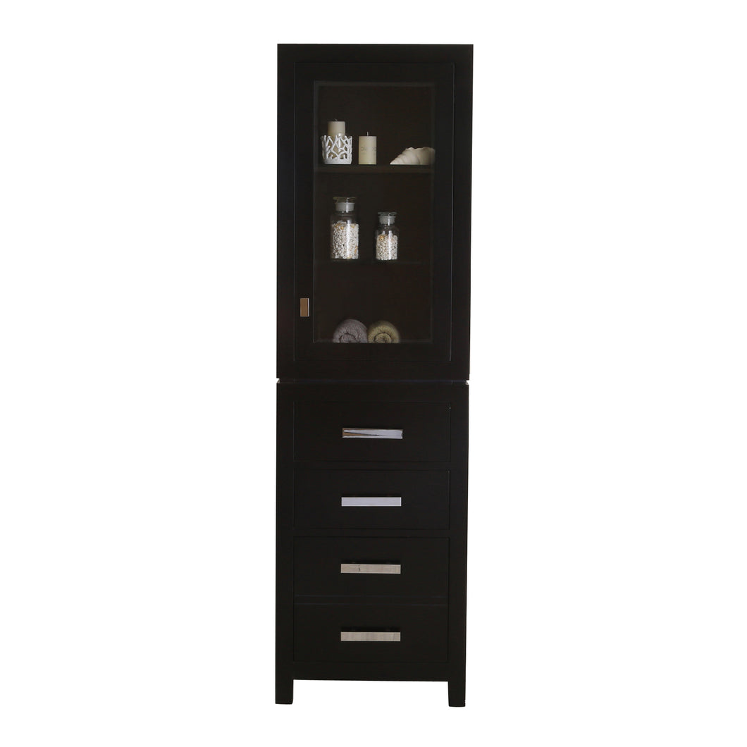 Water Creation Madison Collection Linen Cabinet in Espresso MADISON-LC-E