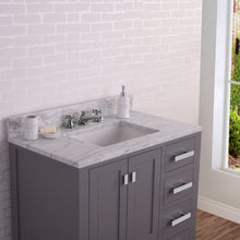 "Load image into Gallery viewer, Water Creation 36"" Wide Cashmere Grey Single Sink Bathroom Vanity From The Madison Collection MADISON36G"
