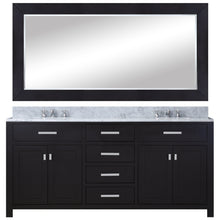 "Load image into Gallery viewer, Water Creation 60"" Espresso Double Sink Bathroom Vanity with Matching Framed Mirror and Faucet From The Madison Collection MADISON60EBF"