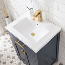 "Load image into Gallery viewer, Water Creation 24"" Monarch Blue MDF Single Bowl Ceramics Top Vanity with Double Door From The MYRA Collection MYRA24MB"