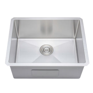 "Wells Sinkware Handcrafted 23"" x 18"" 16-gauge Undermount Single Bowl Stainless Steel Kitchen Sink NCU2318-10"
