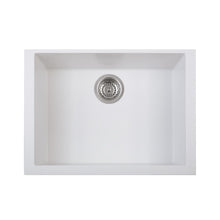 "Load image into Gallery viewer, LaToscana Plados 23"" x 18"" Single Basin Granite Undermount Sink in a Milk White ON6010ST-58"