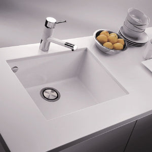 "LaToscana Plados 23"" x 18"" Single Basin Granite Undermount Sink in a Milk White ON6010ST-58"