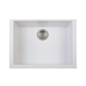 "LaToscana Plados 23"" x 18"" Single Basin Granite Undermount Sink in a Titanium, Black Metallic, Milk White and Brown Finish"