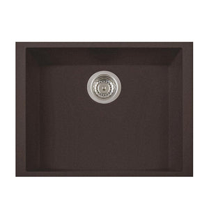 "LaToscana Plados 23"" x 18"" Single Basin Granite Undermount Sink in a Brown ON6010ST-64"