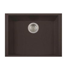 "Load image into Gallery viewer, LaToscana Plados 23"" x 18"" Single Basin Granite Undermount Sink in a Titanium, Black Metallic, Milk White and Brown Finish"