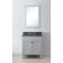 "Load image into Gallery viewer, Water Creation 30"" Earl Grey Single Sink Bathroom Vanity with Matching Framed Mirror and Faucet From The Potenza Collection POTENZA30EGBF"