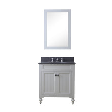 "Load image into Gallery viewer, Water Creation 30"" Earl Grey Single Sink Bathroom Vanity with Matching Framed Mirror From The Potenza Collection POTENZA30EGB"