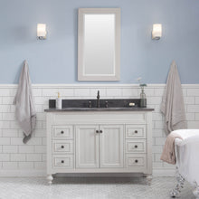 "Load image into Gallery viewer, Water Creation Potenza 48"" Bathroom Vanity in Earl Grey with Blue Limestone Top with Faucet and Mirror POTENZA48EGBF2"