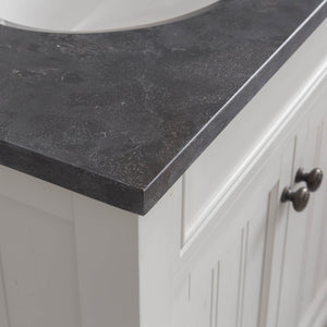 "Water Creation Potenza 48"" Bathroom Vanity in Earl Grey with Blue Limestone Top with Faucet and Mirror POTENZA48EGBF2"
