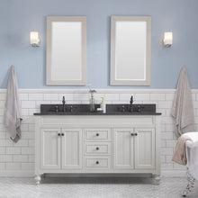 "Load image into Gallery viewer, Water Creation Potenza 60"" Bathroom Vanity in Earl Grey with Blue Limestone Top with Faucet and Small Mirror POTENZA60EGCF2"