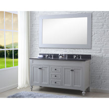 "Load image into Gallery viewer, Water Creation 60"" Earl Grey Double Sink Bathroom Vanity with Matching Framed Mirror From The Potenza Collection POTENZA60EGB"