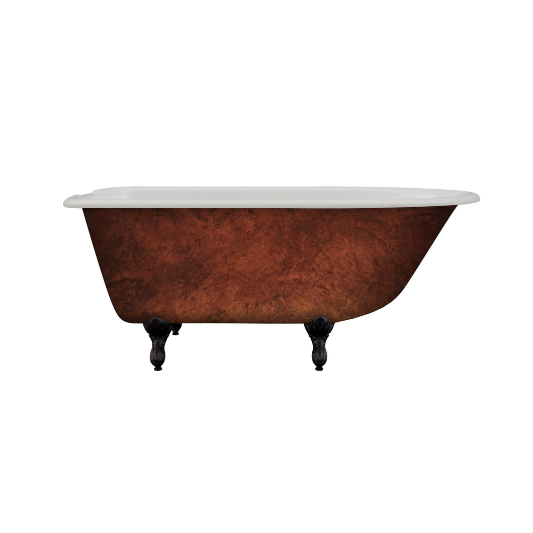 Cambridge Plumbing Cast Iron Clawfoot Bathtub 55