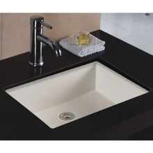 "Load image into Gallery viewer, Wells Sinkware 20"" x 16"" Rectangular Undermount Single Bowl Bathroom Sink in Bisque"