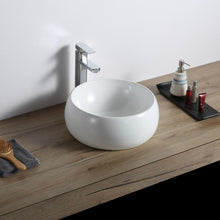 "Load image into Gallery viewer, Ruvati 12"" Bathroom Vessel Sink Round White Circular Above Counter Porcelain Ceramic - RVB0312"