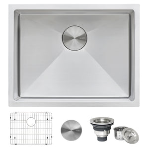 "Ruvati 21"" Undermount Tight Radius 16 Gauge Stainless Steel Bar Prep Kitchen Sink Single Bowl - RVH7121"
