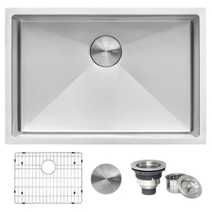 "Ruvati 26"" Undermount 16 Gauge Tight Radius Stainless Steel Kitchen Sink Single Bowl - RVH7126"