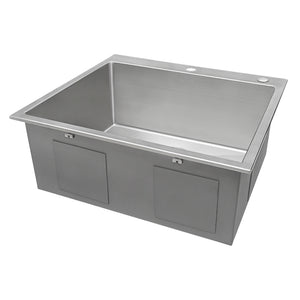 "Ruvati 25"" Drop-in Tight Radius Topmount 16 Gauge Stainless Steel Kitchen Sink Single Bowl - RVH8007"