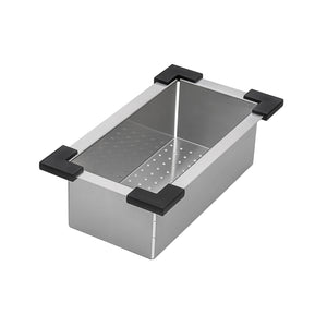 "Ruvati 15"" x 20"" Workstation Drop-In Topmount Bar Prep RV Sink 16 Gauge Stainless Steel - RVH8210"