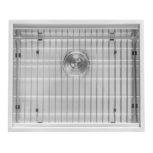 "Ruvati 21"" Workstation Bar Prep Sink Undermount 16 Gauge Ledge Stainless Steel Single Bowl - RVH8307"