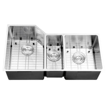 "Load image into Gallery viewer, Ruvati Undermount 16 Gauge 34"" Kitchen Sink Triple Bowl - RVH8550"