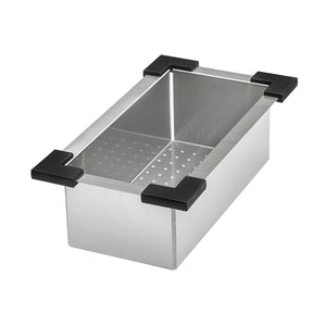 "Ruvati 57"" Workstation Two-Tiered Ledge Kitchen Sink Undermount 16 Gauge Stainless Steel - RVH8555"