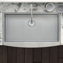 "Load image into Gallery viewer, Ruvati 30"" Farmhouse Apron-Front Kitchen Sink Stainless Steel Single Bowl - RVH9130"
