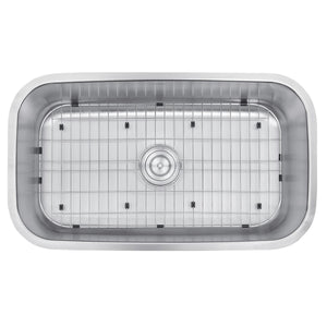 "Ruvati 32"" Undermount 16 Gauge Stainless Steel Kitchen Sink Single Bowl - RVM4200"
