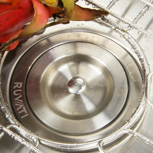 "Ruvati 32"" Undermount 50/50 Double Bowl 16 Gauge Stainless Steel Kitchen Sink - RVM4300"